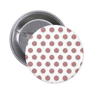 Puntos rosados atractivos de Poka Pin Redondo De 2 Pulgadas