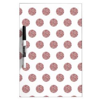 Puntos rosados atractivos de Poka Tablero Blanco