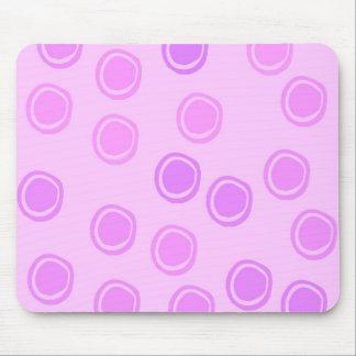 Puntos rosados del círculo tapetes de ratones