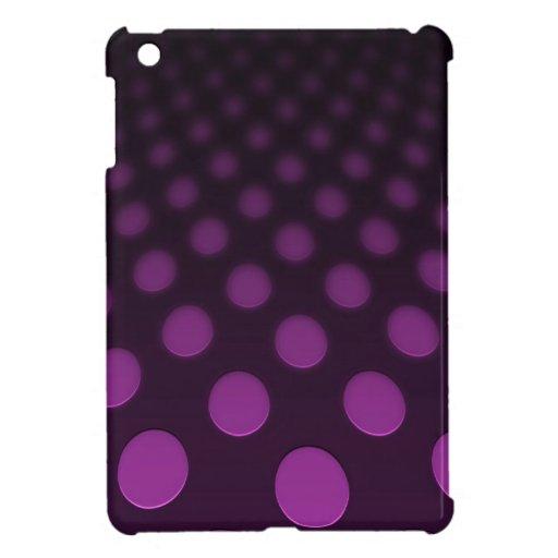 Puntos rosados geométricos que brillan intensament iPad mini funda