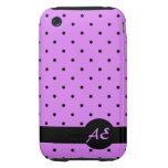 puntos rosados iPhone 3 tough funda