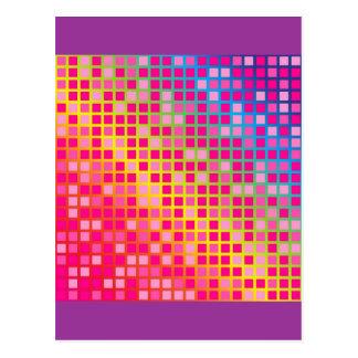 Puntos rosados postal