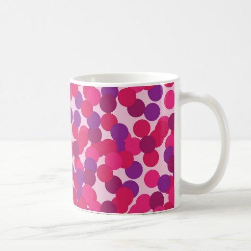 puntos rosados tazas de café