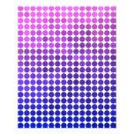 Puntos rosados y azules tarjetones