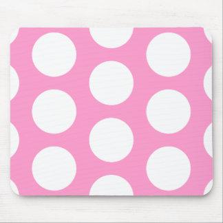 Puntos rosados y blancos tapetes de ratón