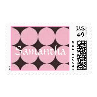 puntos rosados y marrones grandes, sello conocido