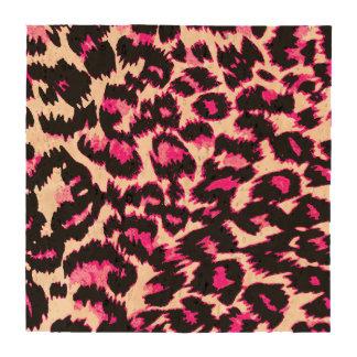 Puntos rosados y negros del leopardo posavasos