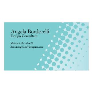Puntos simples del tono medio de la tarjeta de tarjetas de visita