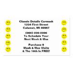 Puntos sonrientes del negocio de sacador de la car tarjetas de negocios