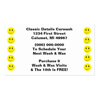 Puntos sonrientes del negocio de sacador de la tarjetas de visita