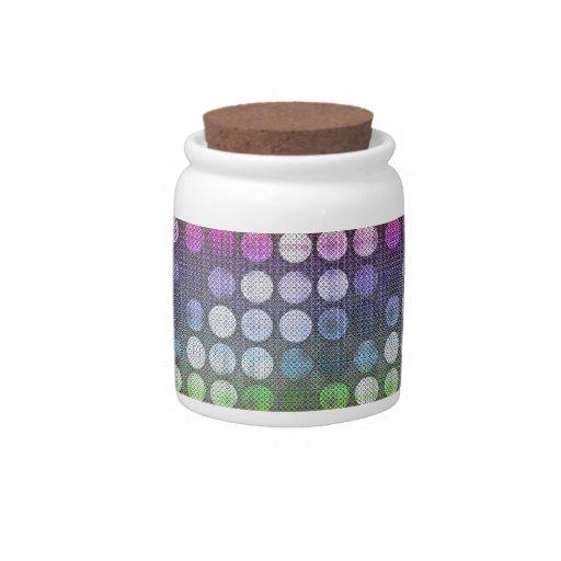 Puntos texturizados jarras para caramelos