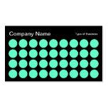 Puntos - turquesa en negro plantillas de tarjetas personales