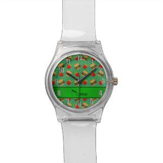 Puntos verdes conocidos personalizados de las reloj de mano