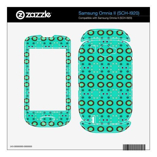Puntos verdes de Seafoam de la diversión Samsung Omnia II Calcomanía