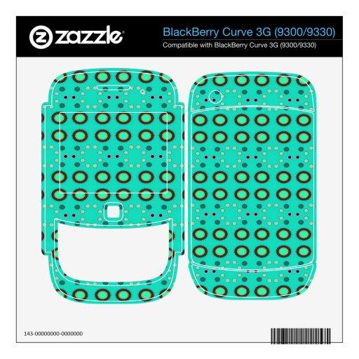 Puntos verdes de Seafoam de la diversión BlackBerry Calcomanías