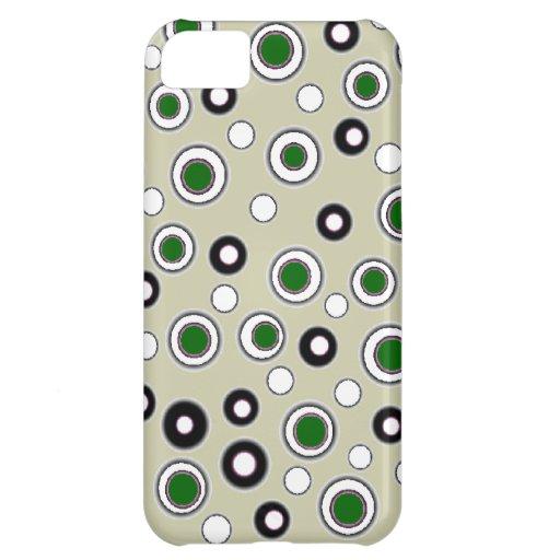 Puntos verdes del nuevo caso lindo del iPhone y bl