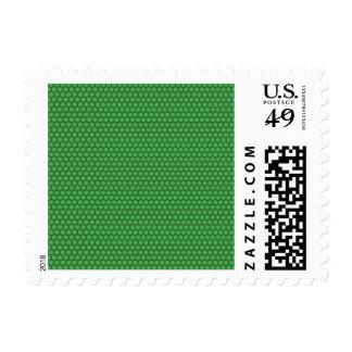 Puntos verdes en verde sello