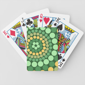 Puntos verdes y amarillos baraja cartas de poker