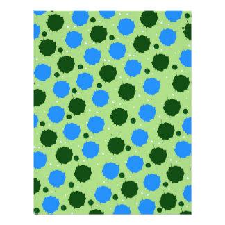 Puntos verdes y azules del chapoteo membretes personalizados