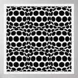 Puntos y esferas del arte de Op. Sys. - blancos y  Posters
