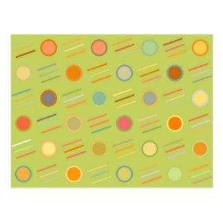 Puntos y líneas retros tarjetas postales