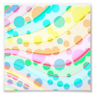 Puntos y modelo de ondas en colores pastel colorid fotografías