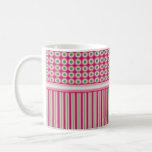 Puntos y rayas de la sandía taza de café