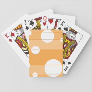 Puntos y rayas en amarillo-naranja barajas de cartas