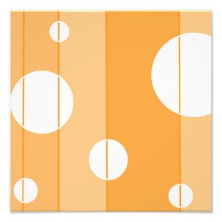 Puntos y rayas en amarillo-naranja cojinete