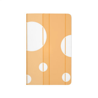 Puntos y rayas en amarillo-naranja cuadernos