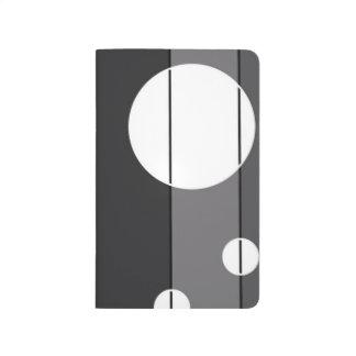 Puntos y rayas en gris cuadernos