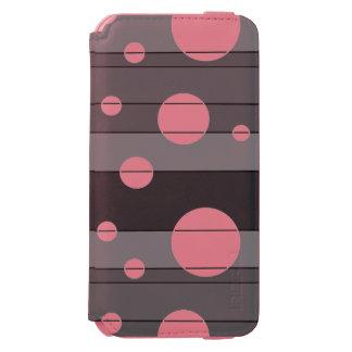Puntos y rayas en gris funda billetera para iPhone 6 watson