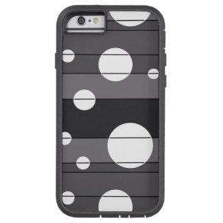 Puntos y rayas en gris funda tough xtreme iPhone 6