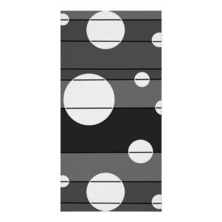 Puntos y rayas en gris perfect poster