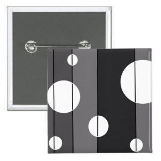 Puntos y rayas en gris pin cuadrada 5 cm