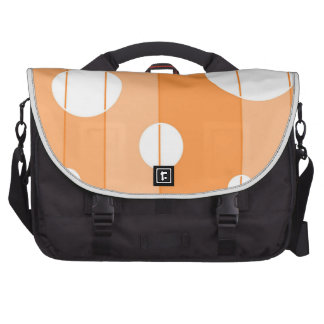 Puntos y rayas en naranja bolsas para portatil