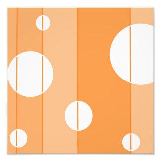 Puntos y rayas en naranja cojinete
