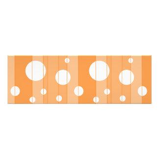 Puntos y rayas en naranja fotografía