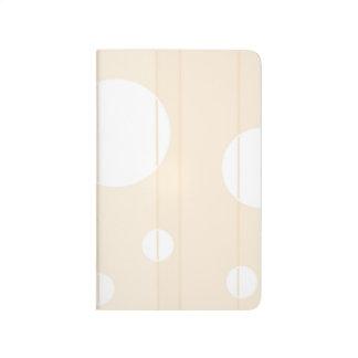 Puntos y rayas en vainilla cuaderno grapado