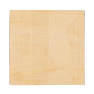 Puntos y rayas en vainilla posavasos de madera
