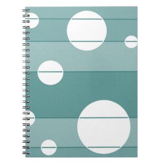 Puntos y rayas en WinterGreen Spiral Notebook