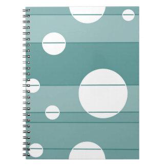 Puntos y rayas en WinterGreen Spiral Notebooks