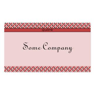 Puntos y rayas encantadores (fresas) tarjetas de visita