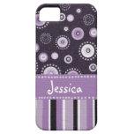 Puntos y rayas púrpuras iPhone 5 Case-Mate funda