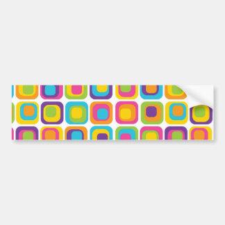 Puntos y regalos modernos coloridos del modelo de pegatina de parachoque