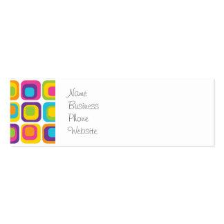 Puntos y regalos modernos coloridos del modelo de  tarjetas de visita