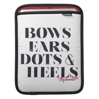 Puntos y talones de los oídos de los arcos de manga de iPad