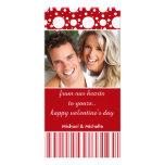 Puntos y tarjeta rojos de la foto de la tarjeta de tarjeta personal
