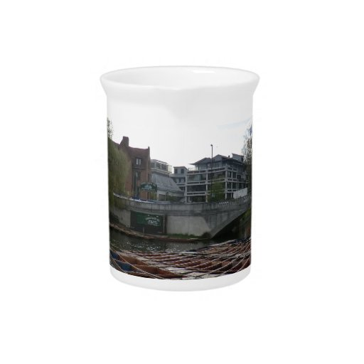 Punts on the River Cam in Cambridge Drink Pitcher