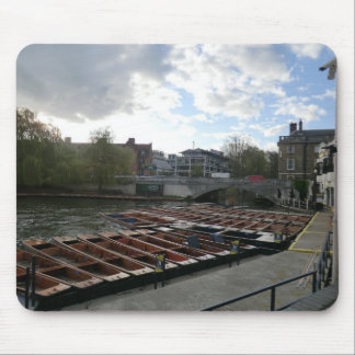 Punts on the River Cam in Cambridge Mouse Pad